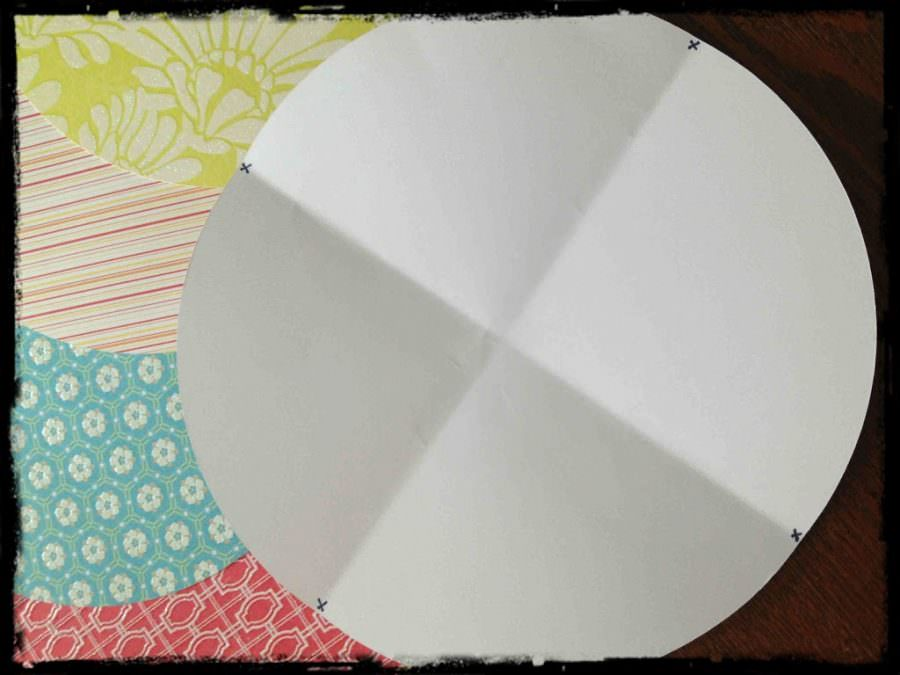 How to make scrapbook decorations - I Placed My Template Over The Scrapbook Paper And Marked Small Dots On The Back Side Of Each Circle Of Scrapbook Paper Then I Folded The Flaps Of The