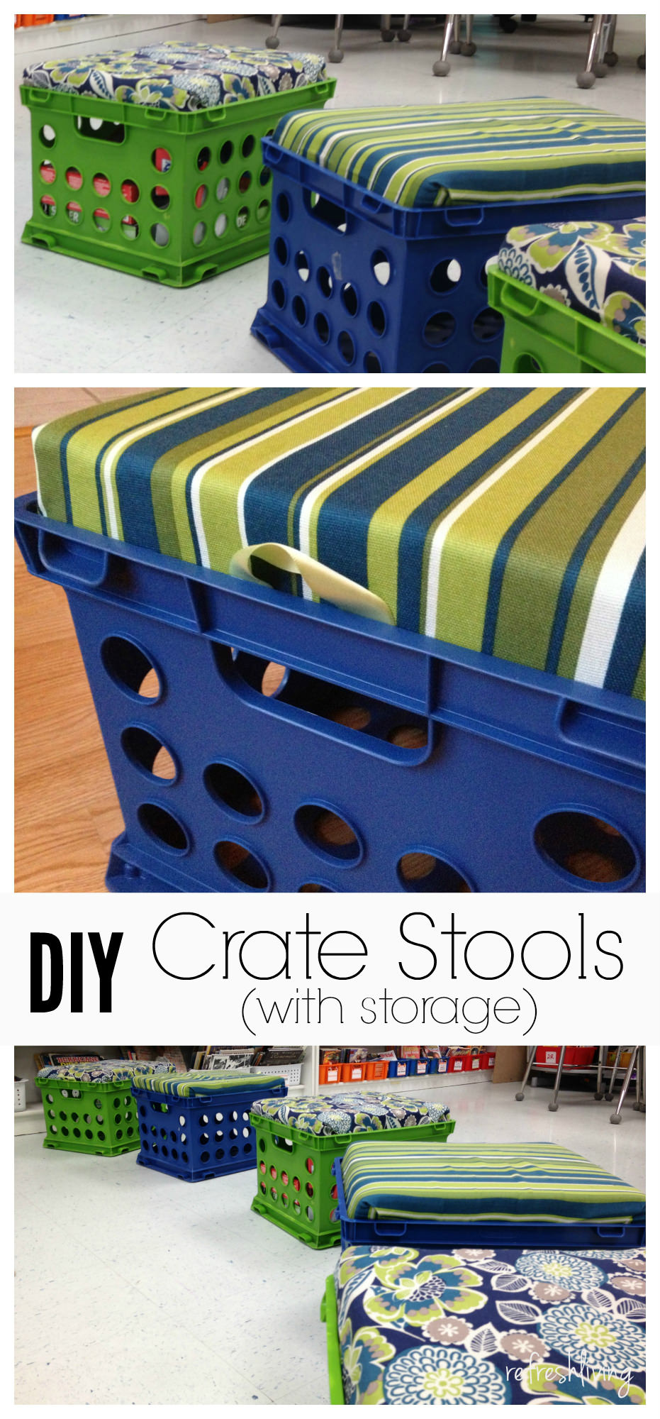 Diy Crate Storage Bench Refresh Living