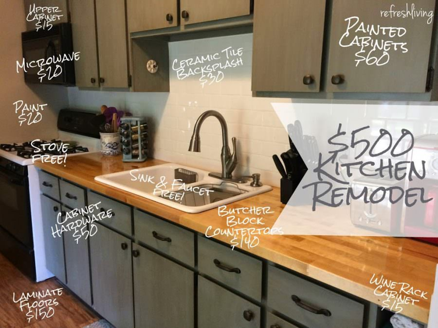 cheap ways to redo kitchen cabinets updating a kitchen on a budget 15 awesome amp cheap 13467