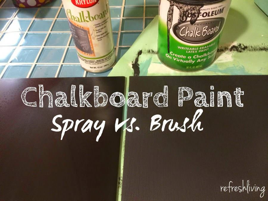 Chalkboard Paint Comparison