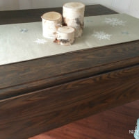 milk paint and stained table