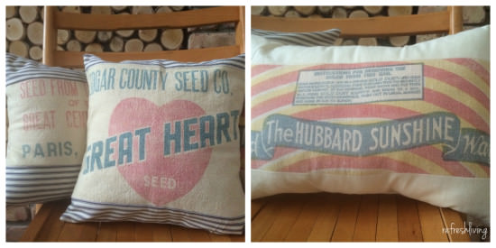 grain sack envelope pillow cover
