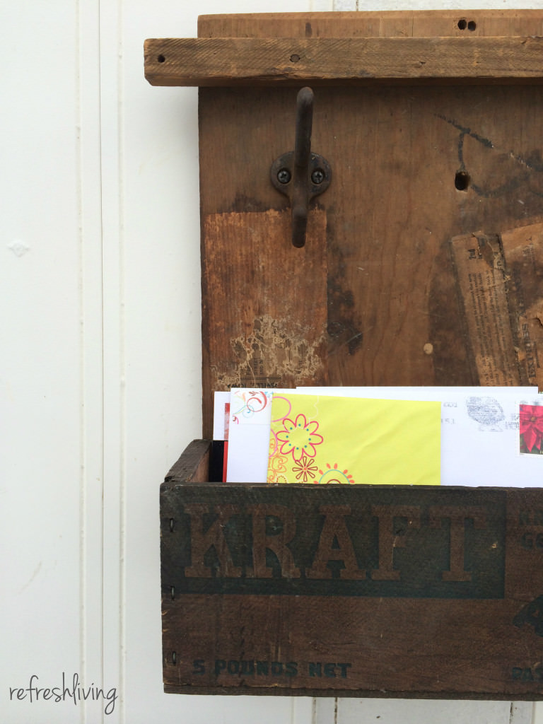 upcycled egg crate mail organizer 2