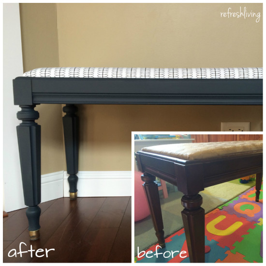 refinished bench