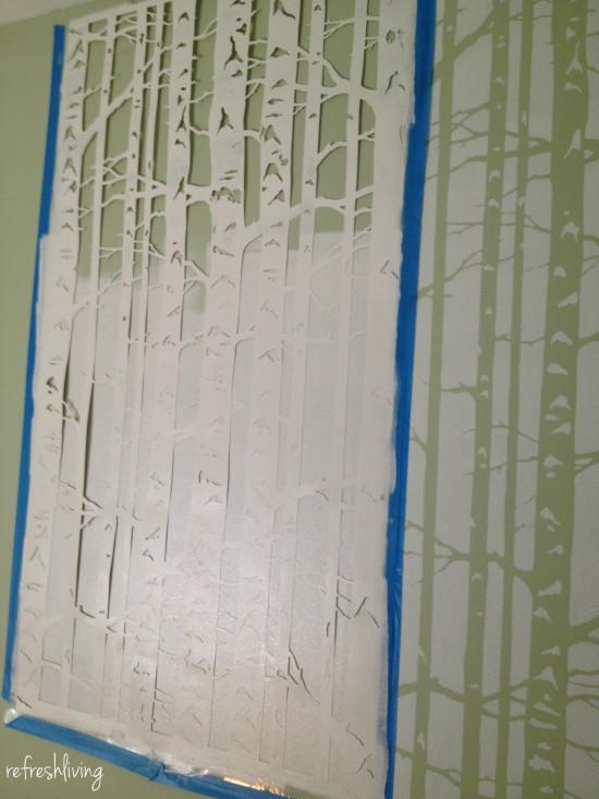 cutting edge birch stencil