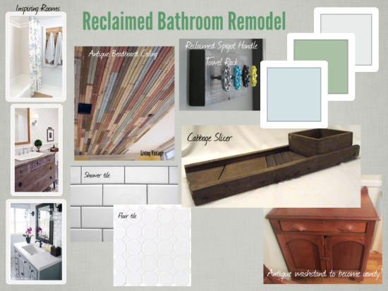 design board reclaimed bathroom