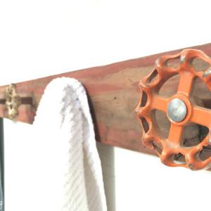 DIY vintage faucet towel rack