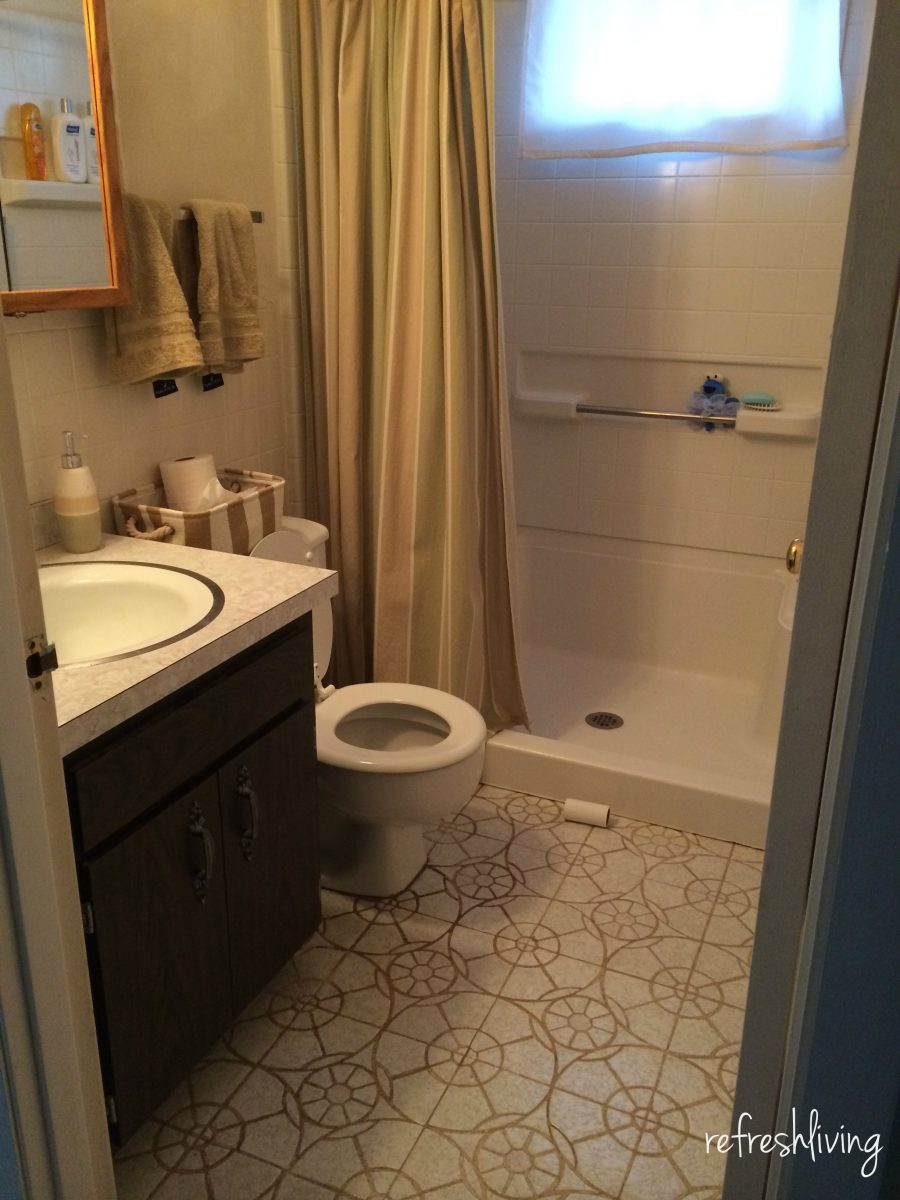 1970s bathroom remodel one room challenge week 1 for Bathroom remodel 2015