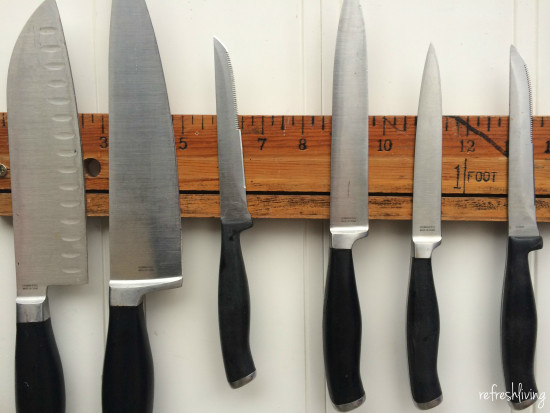 diy magnetic knife rack