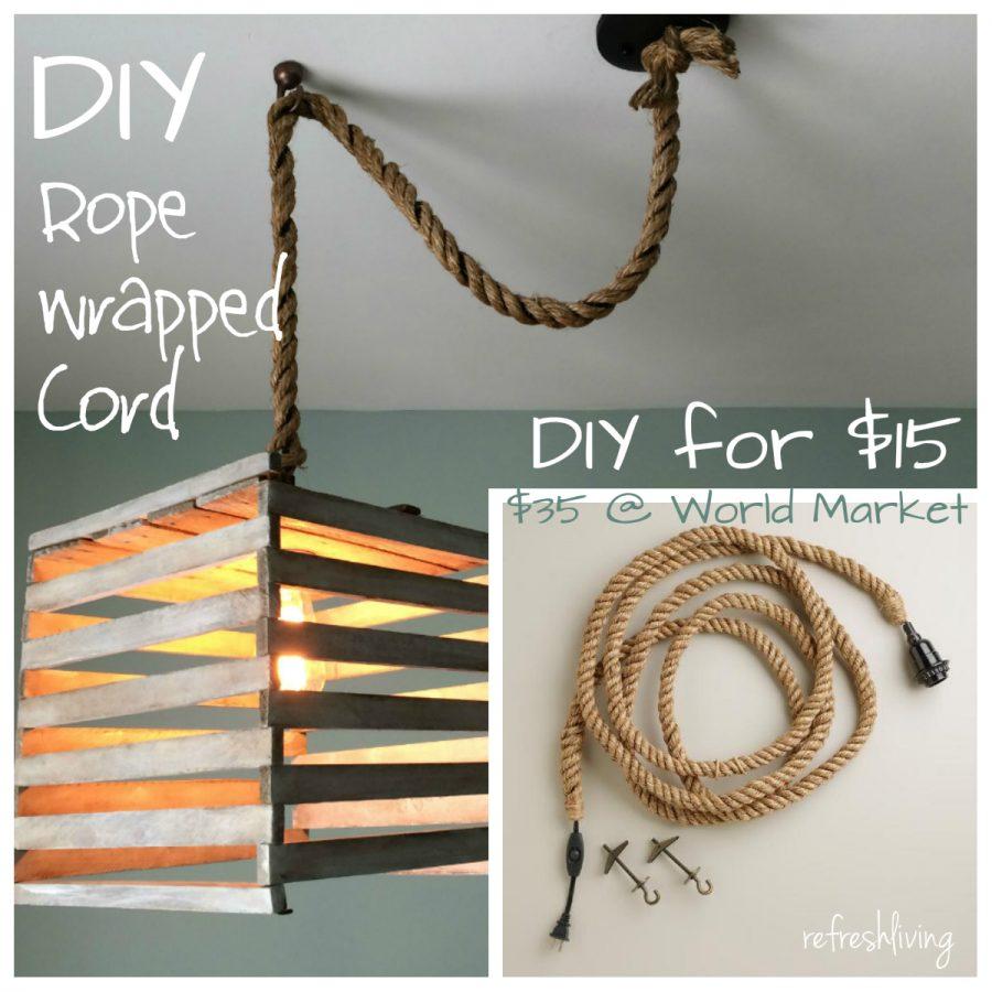 diy rope pendant cord refresh living. Black Bedroom Furniture Sets. Home Design Ideas