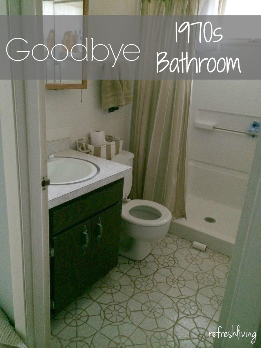 1970s Bathroom Remodel One Room Challenge Week 2 Refresh Living