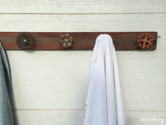 antique spigot handle rack