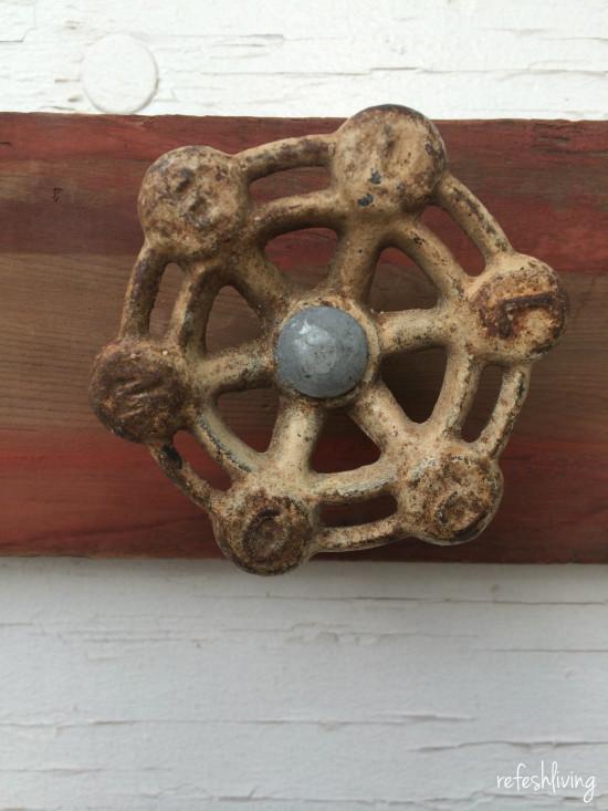 antique faucet handle coat rack