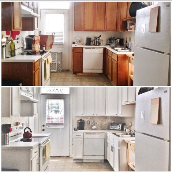 Before And After Of This Beautiful Open Concept Kitchen: Updating A Kitchen On A Budget