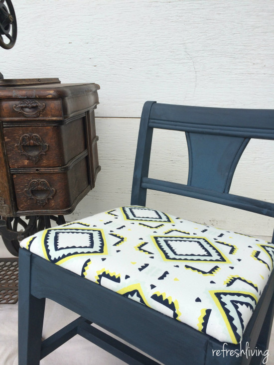 vintage sewing chair