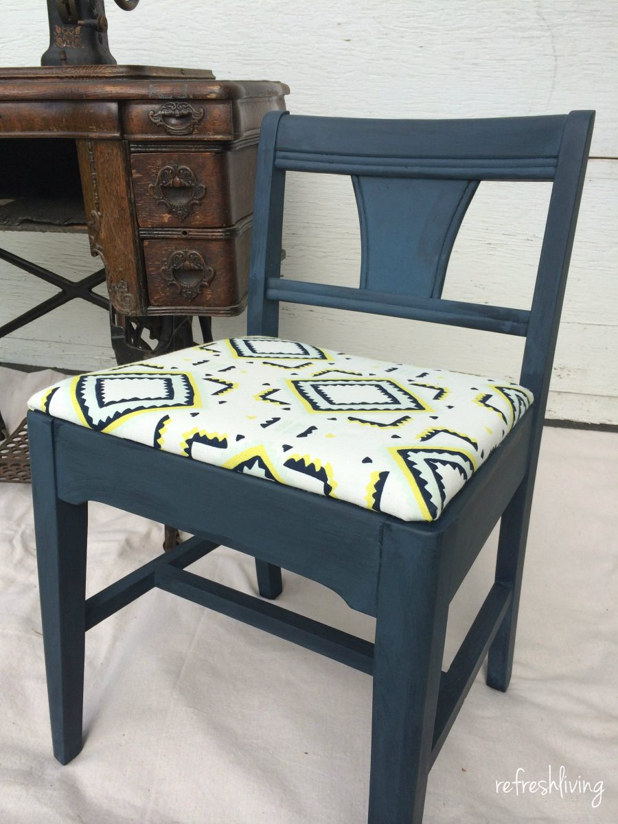 Antique sewing chair - Vintage Sewing Chair Paint And Upholstered