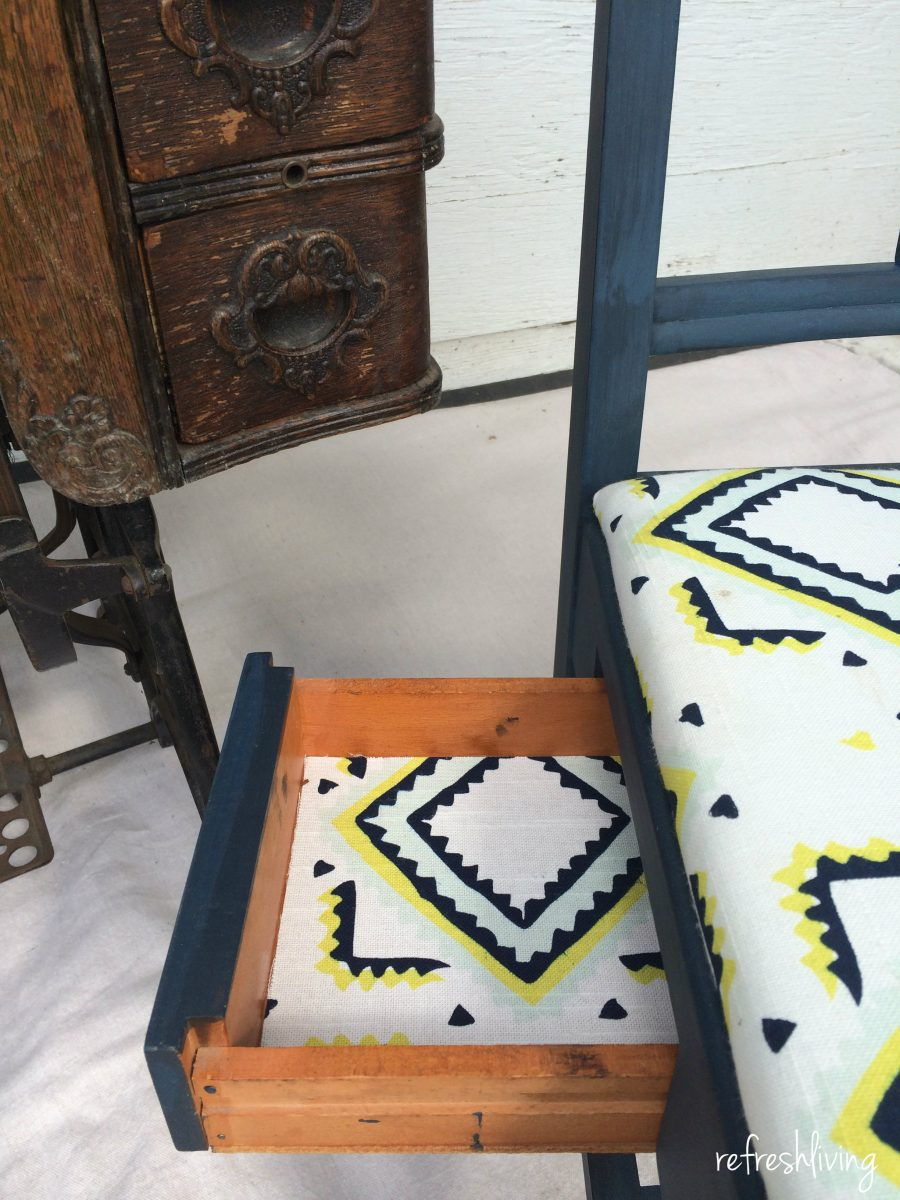 Antique sewing chair - Vintage Sewing Painted Chair