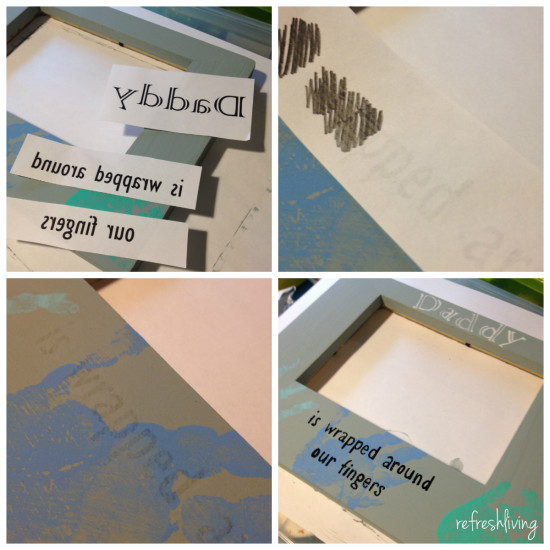 diy fathers day frame