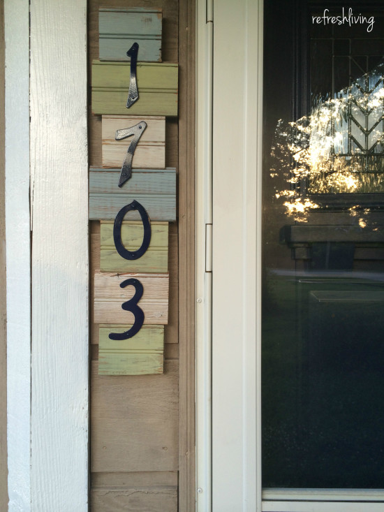 diy scrap wood address sign