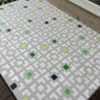 how to stencil a concrete patio | tips for stenciling with clean lines