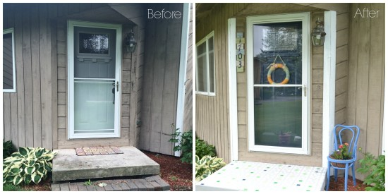 front porch before and after