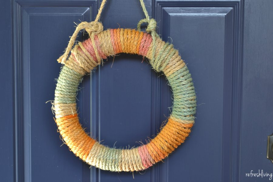 DIY Tie-Dyed Rope Wreath