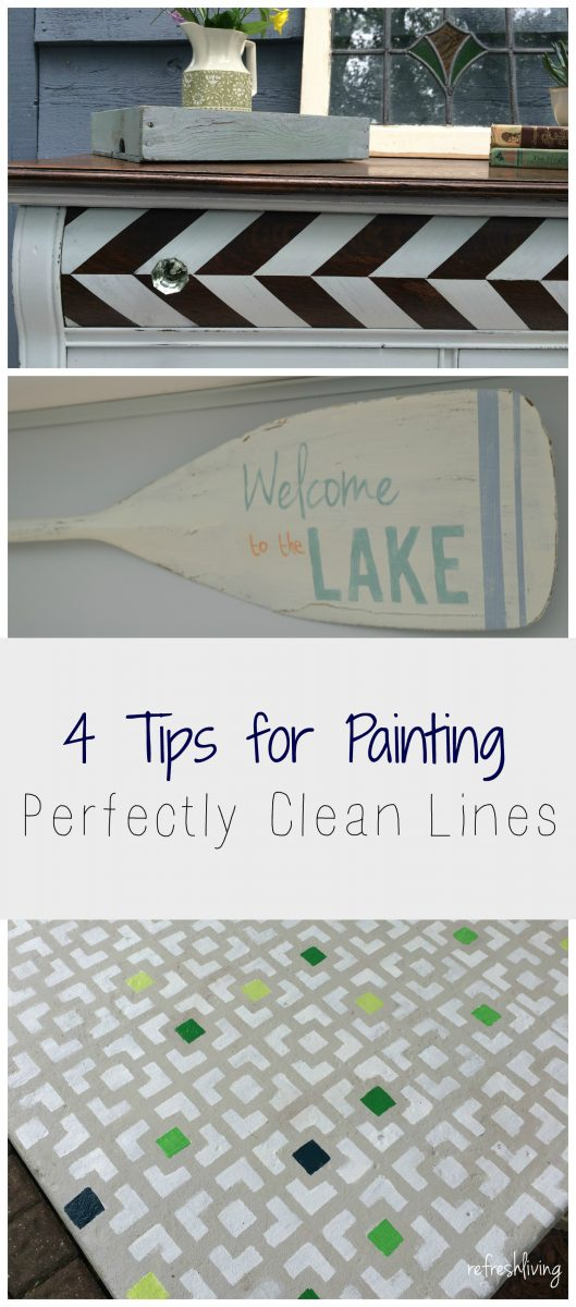 4 Tips for Painting Perfectly Clean Lines - Refresh Living