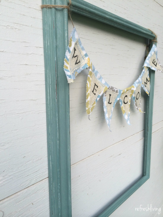 picture frame with banner