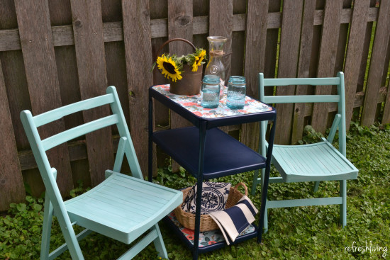 upcycled vintage metal cart 4