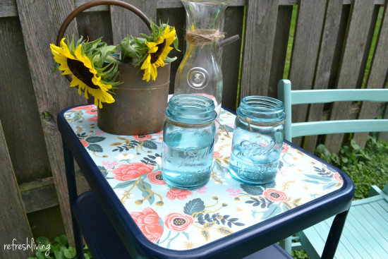 upcycled vintage metal cart 6