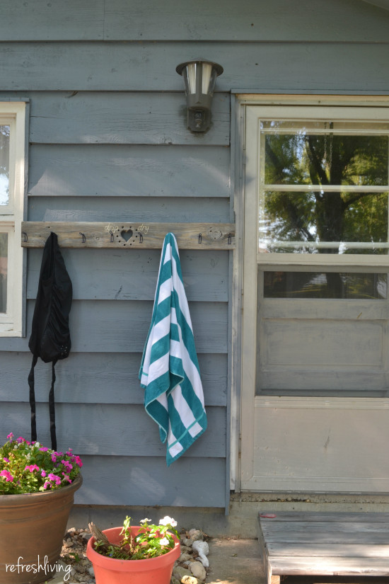 diy swim suit and towel rack 2