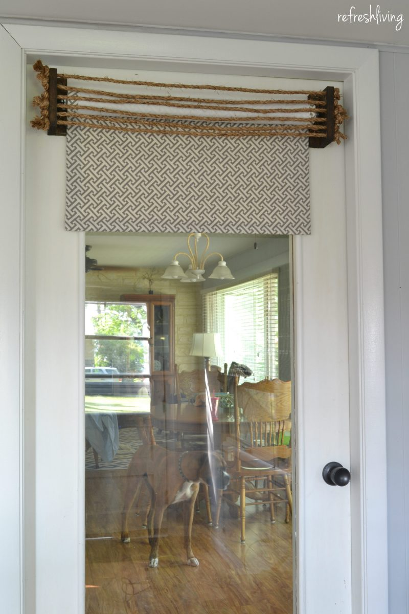 Fabric Roller Shades : Diy fabric roller shades refresh living