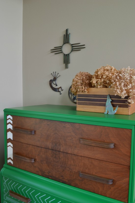 painted waterfall dresser