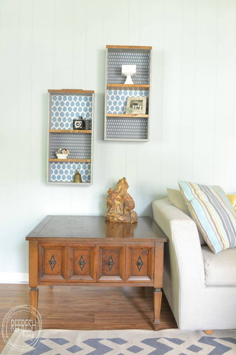 Upcycle Old Drawers Into Decorative Shelves Refresh Living