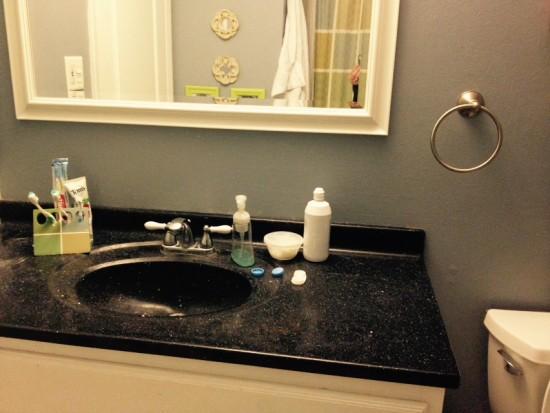 budget bathroom update before