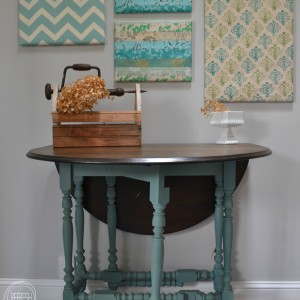 painted gate leg table