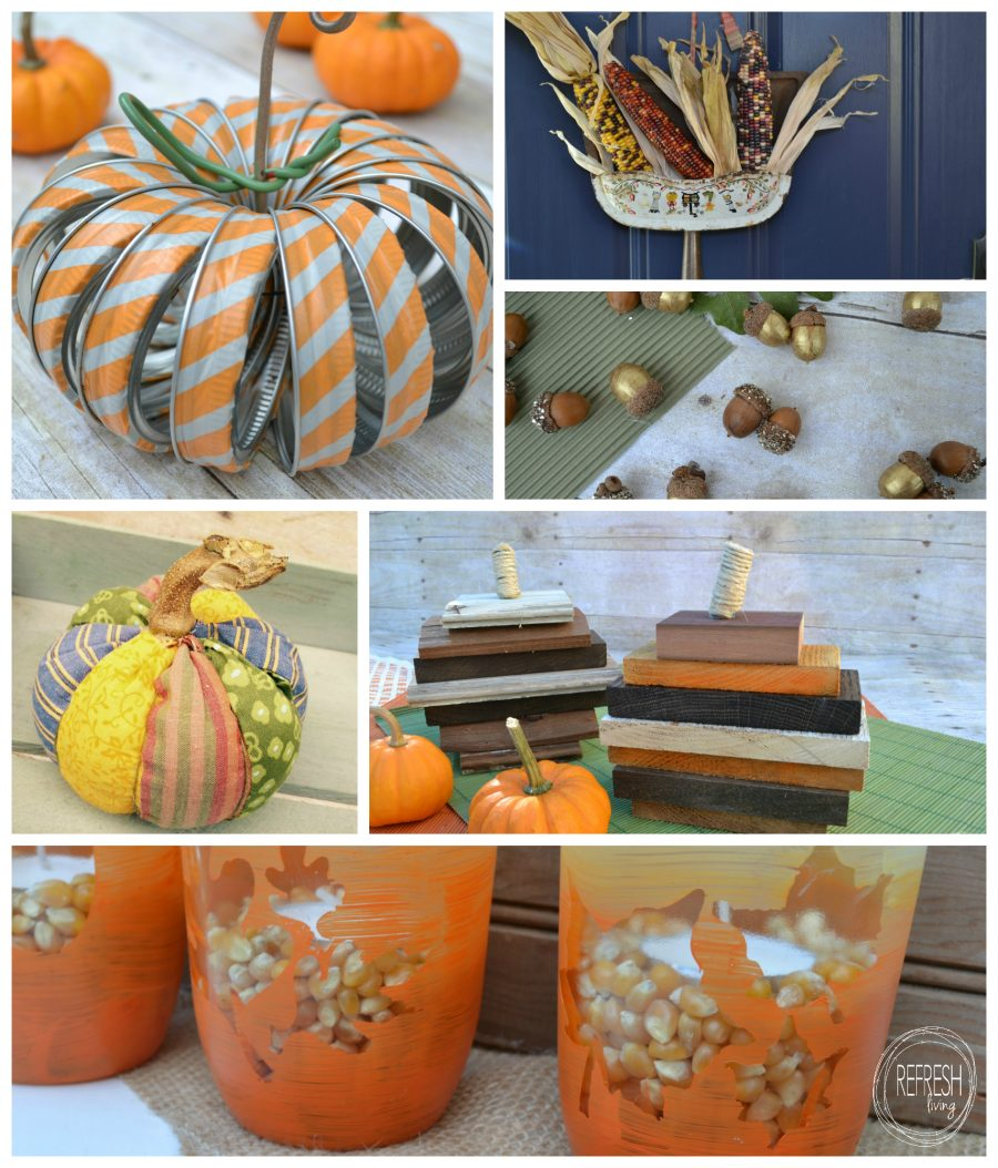 12 upcycled projects to help decorate for fall refresh for Woodpile fun craft ideas