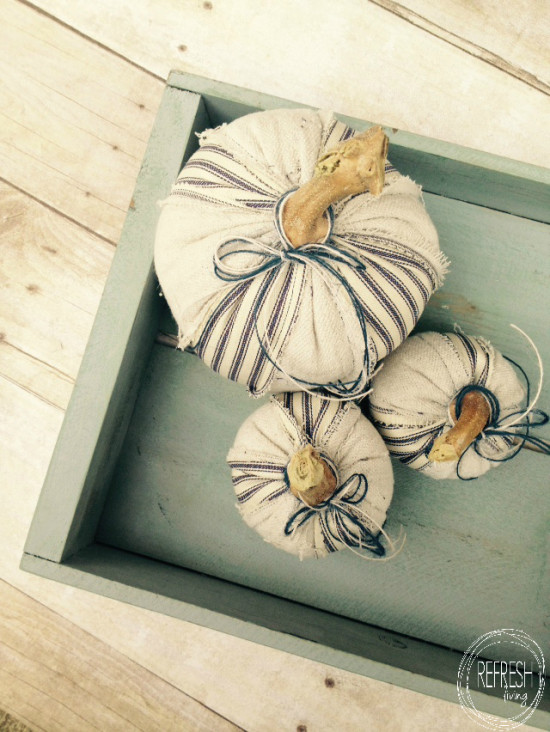 diy scrap fabric pumpkins