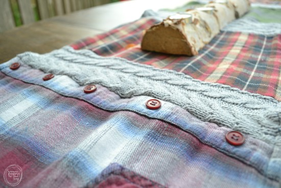 flannel shirts table runner
