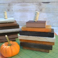 Use up leftover scrap wood to create little pumpkins | easy DIY wood pumpkins