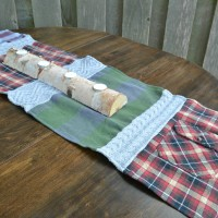DIY flannel table runner | sew your own table runner with an old flannel shirt or sweater