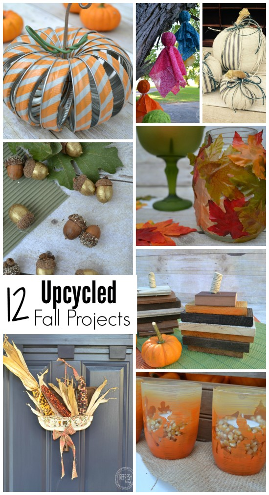 Save money by decorating for the holidays with upcycled and repurposed items.  It's a cheap way to decorate for fall!