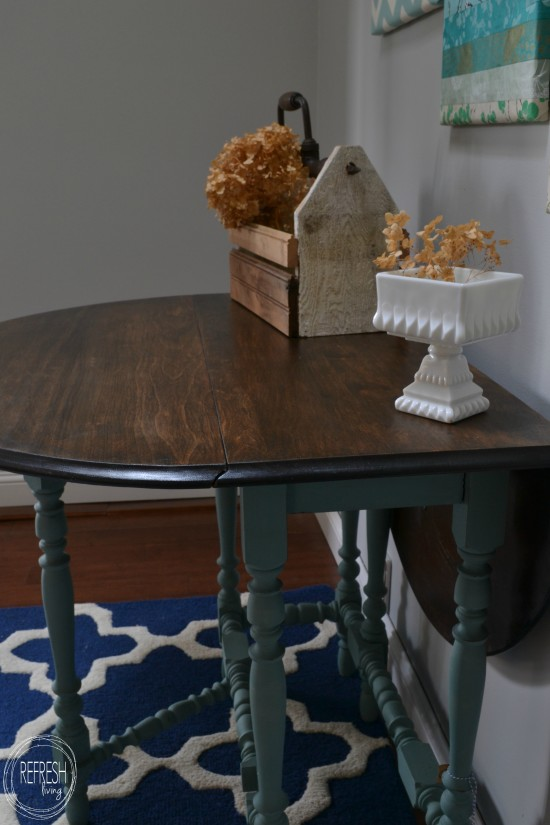 vintage gate leg table painted