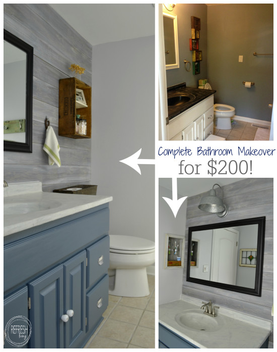 complete bathroom makeover for 200 budget bathroom remodel