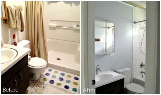 cottage bathroom before and after