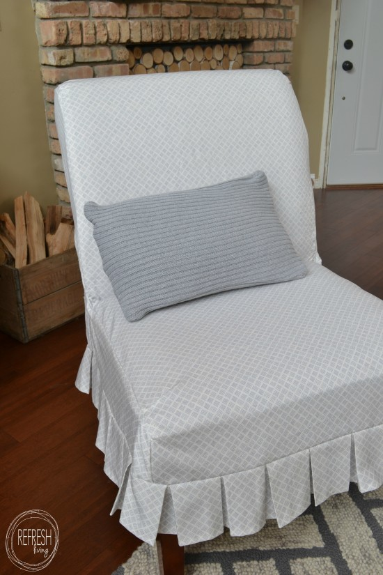 diy chair slipcover with pleats