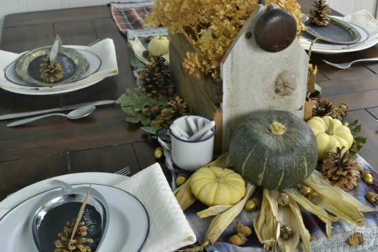 nature inspired thanksgiving centerpiece