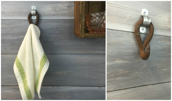 rustic industrial bathroom towel hook