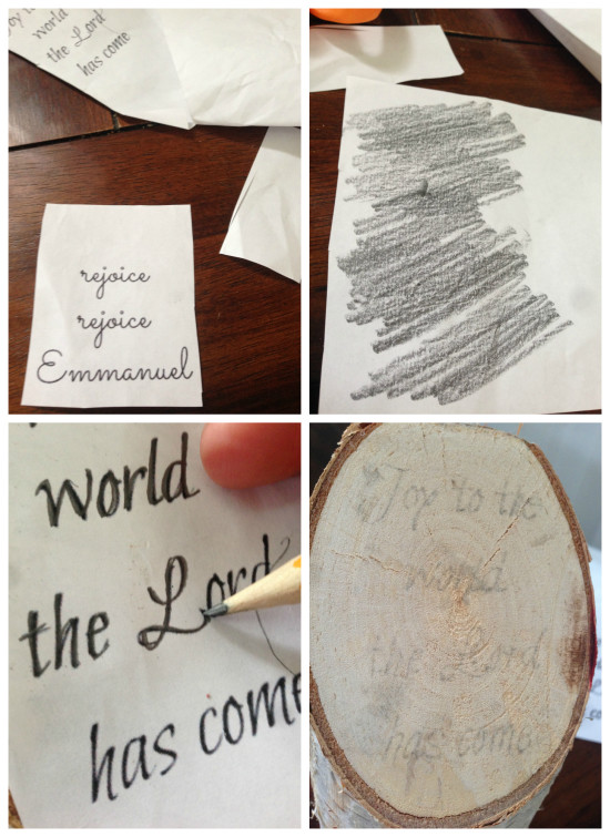 how to transfer printed words to paint