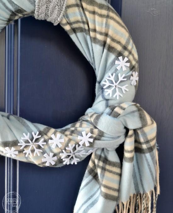 diy snowflake winter wreath